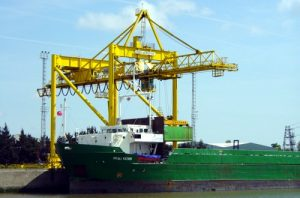 Container crane at the Port of Boston - part of the Victoria Group